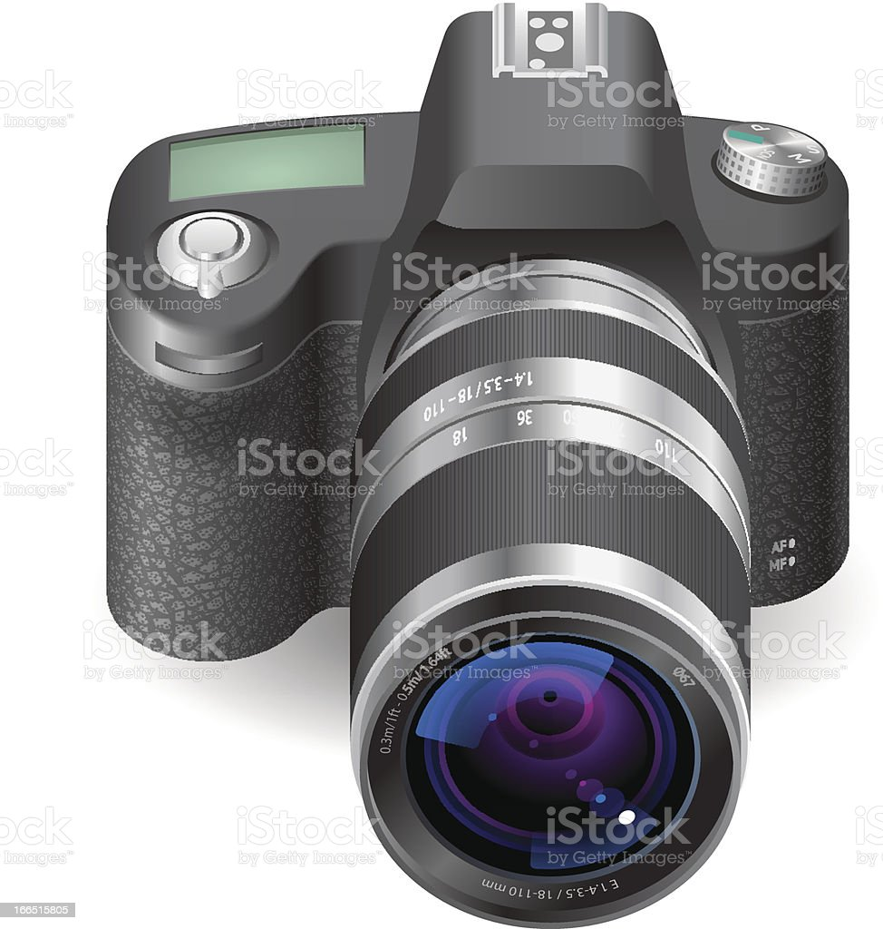 Icon for SLR camera royalty-free stock vector art