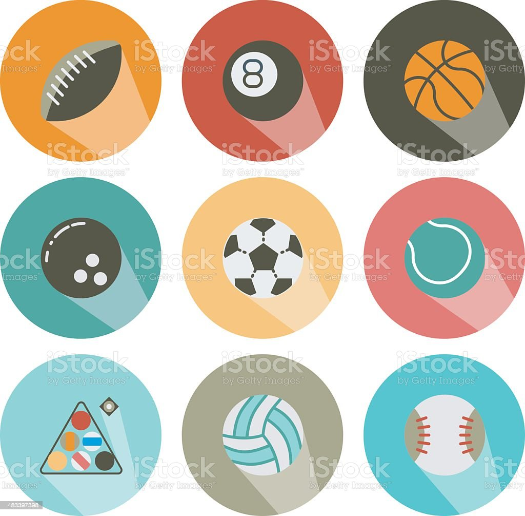 icon form shadow ball game vector art illustration