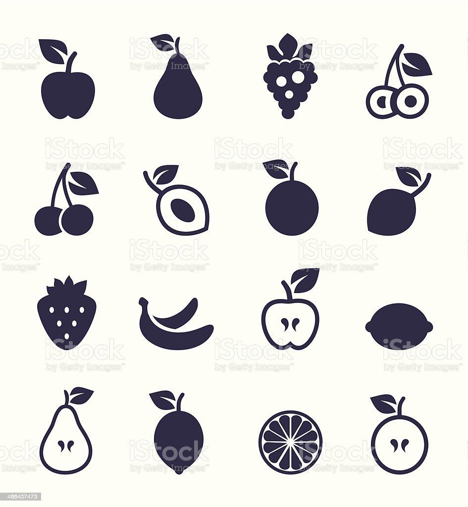 Icon fruit vector art illustration