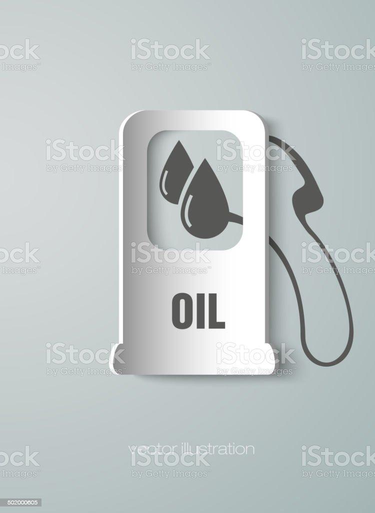 icon fueling pump vector art illustration