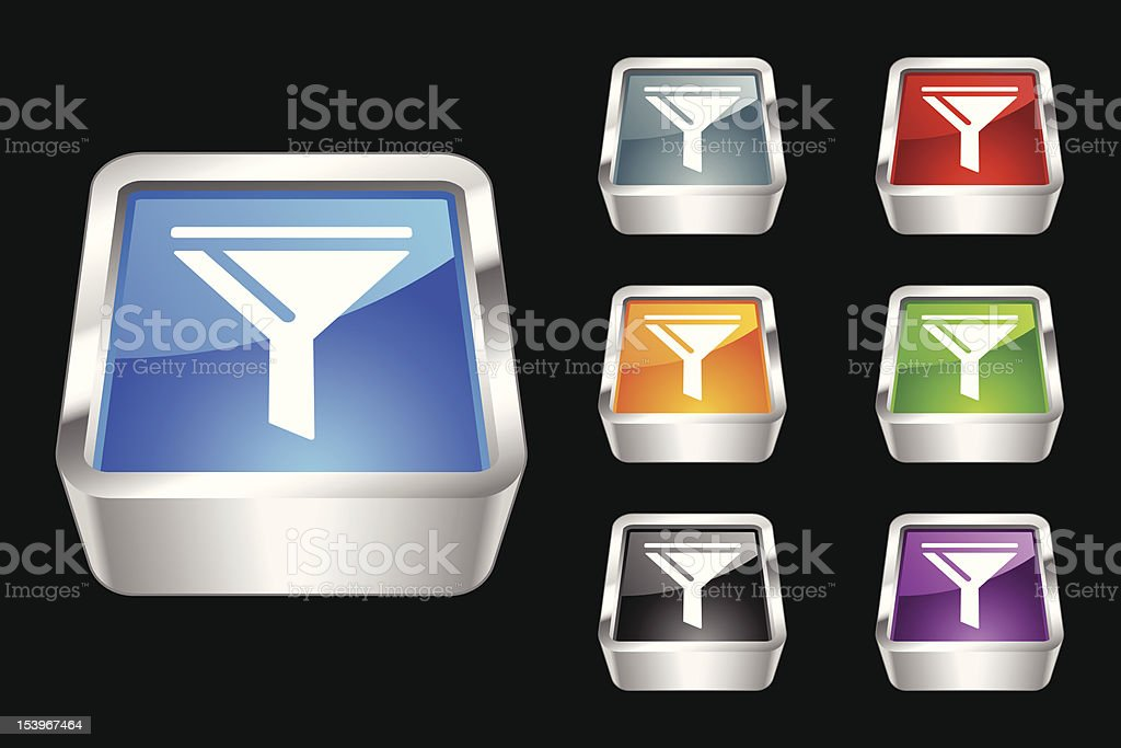 3D Icon | Funnel royalty-free stock vector art