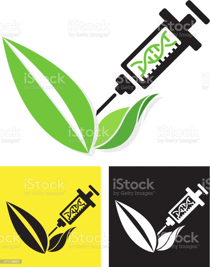 Icon - Genetically Modified Crop vector art illustration