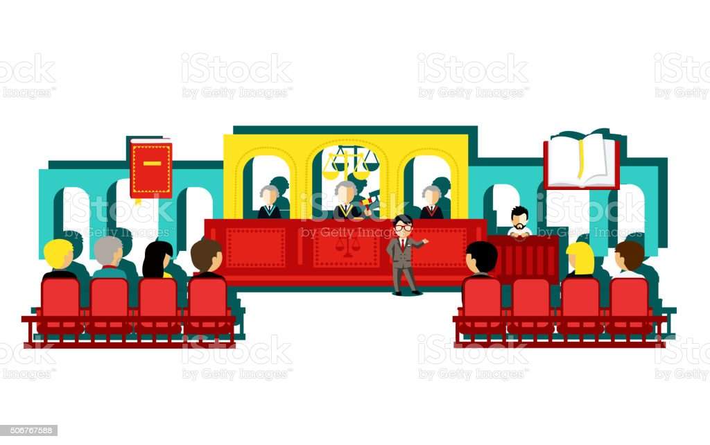 Icon Law and People Design Concept vector art illustration