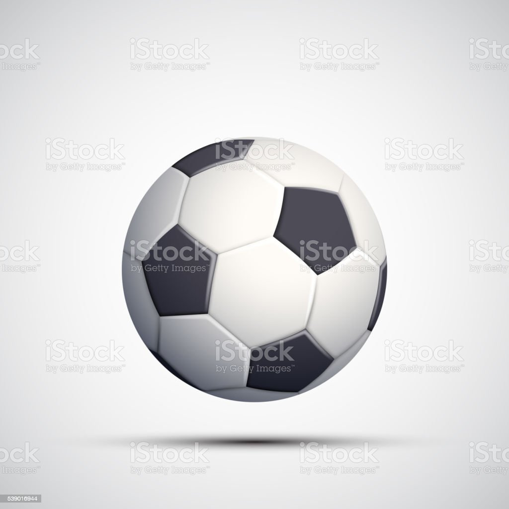 Icon leather soccer ball. Isolated on white background. vector art illustration