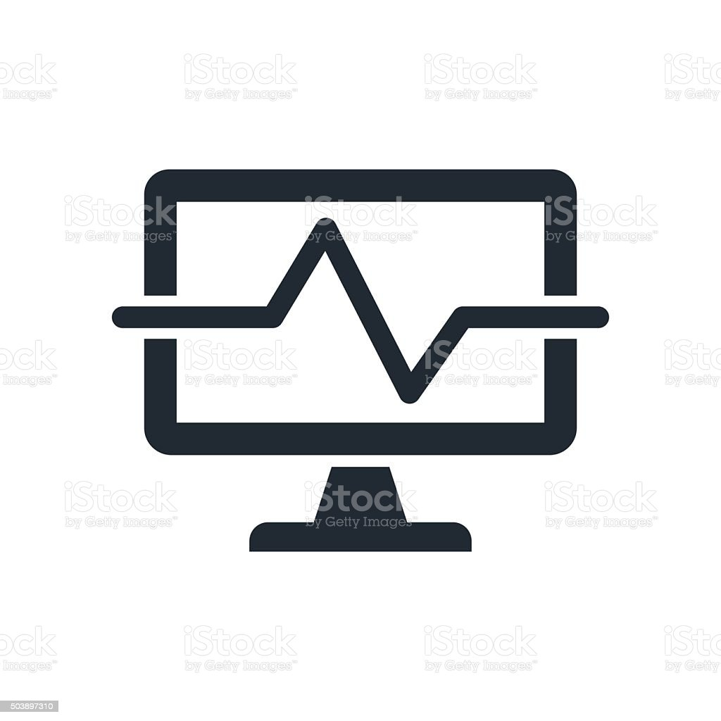 icon medical computing diagnostyc vector art illustration