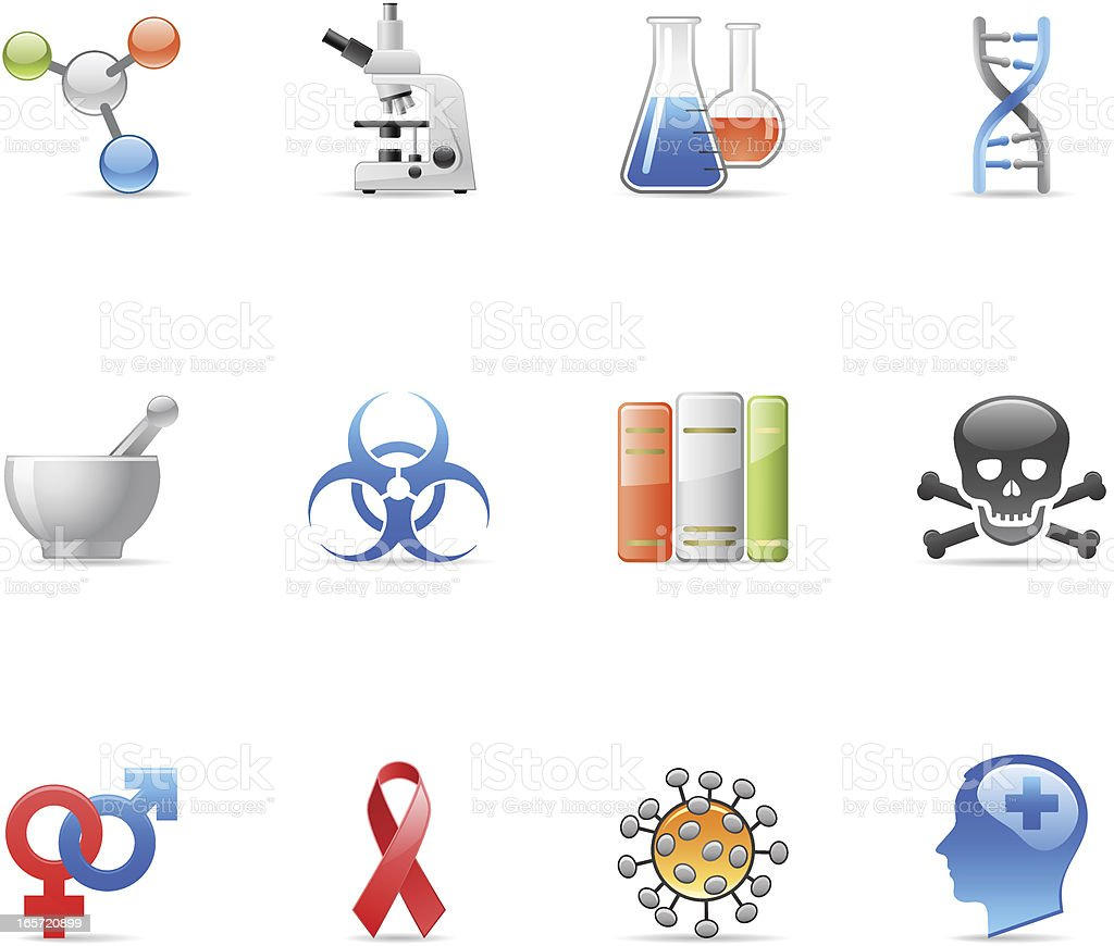 Icon medical - research vector art illustration
