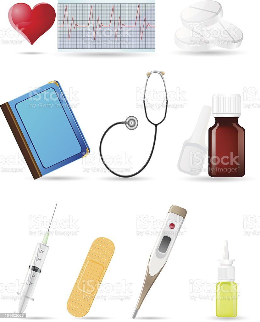 icon medical set royalty-free stock vector art