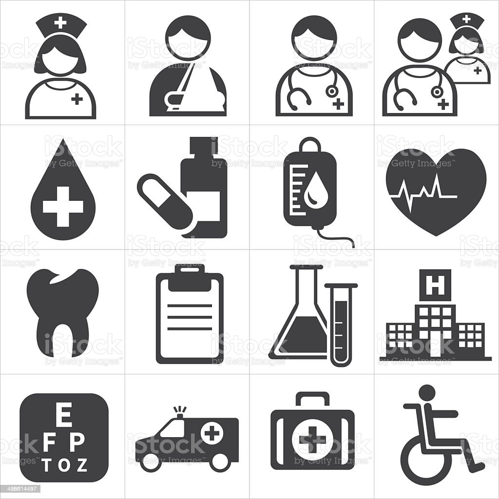 icon medical vector art illustration