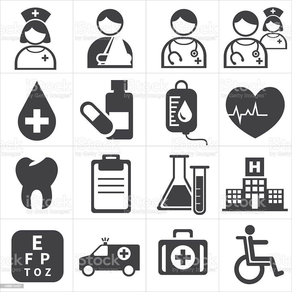 icon medical vector art illustration