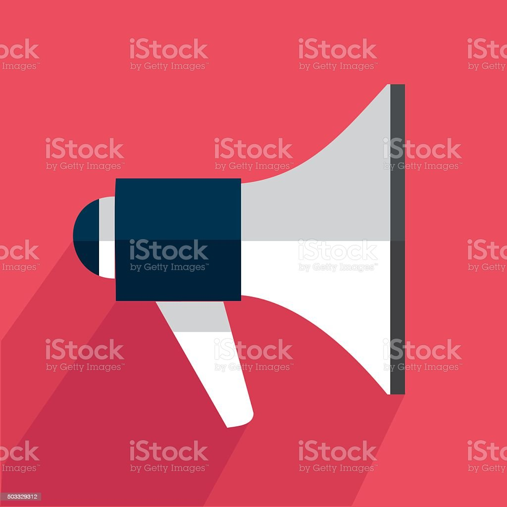Icon megaphone vector art illustration