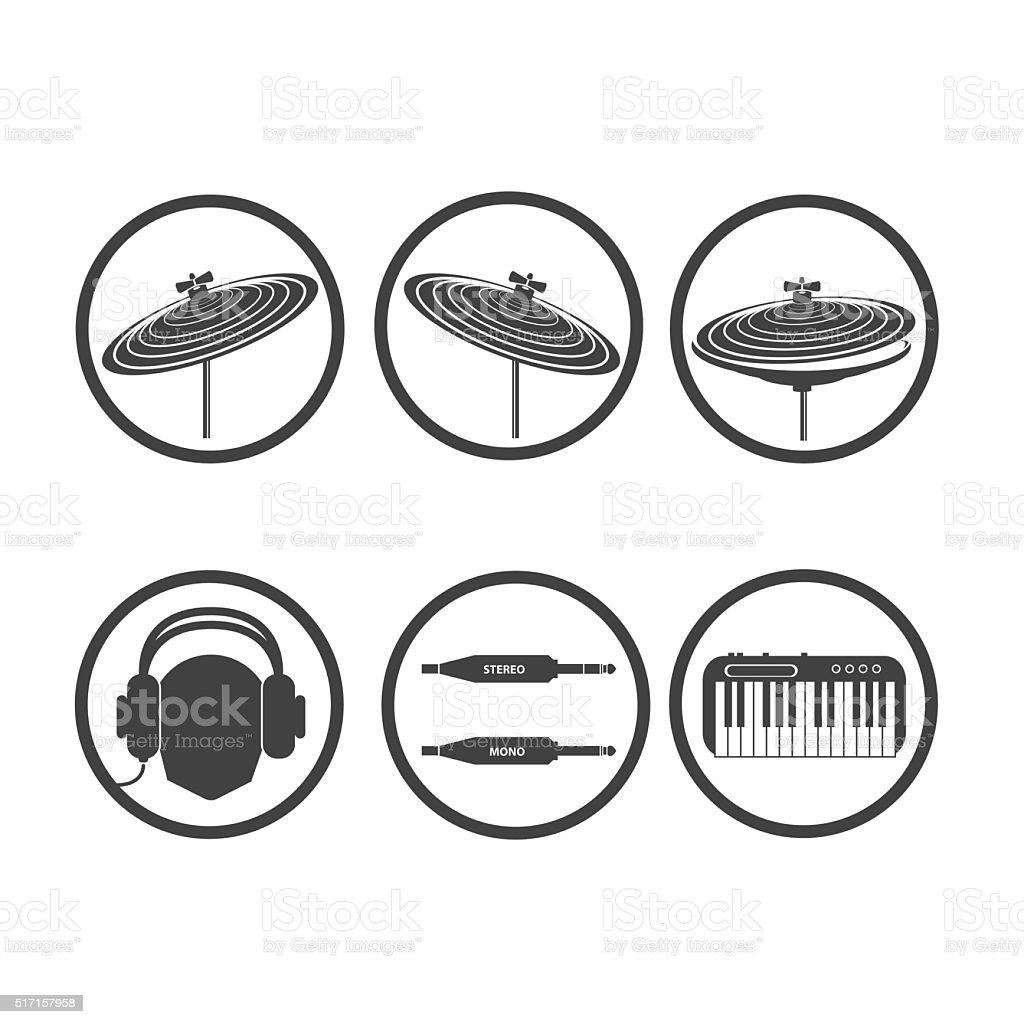 Icon music 03 vector art illustration