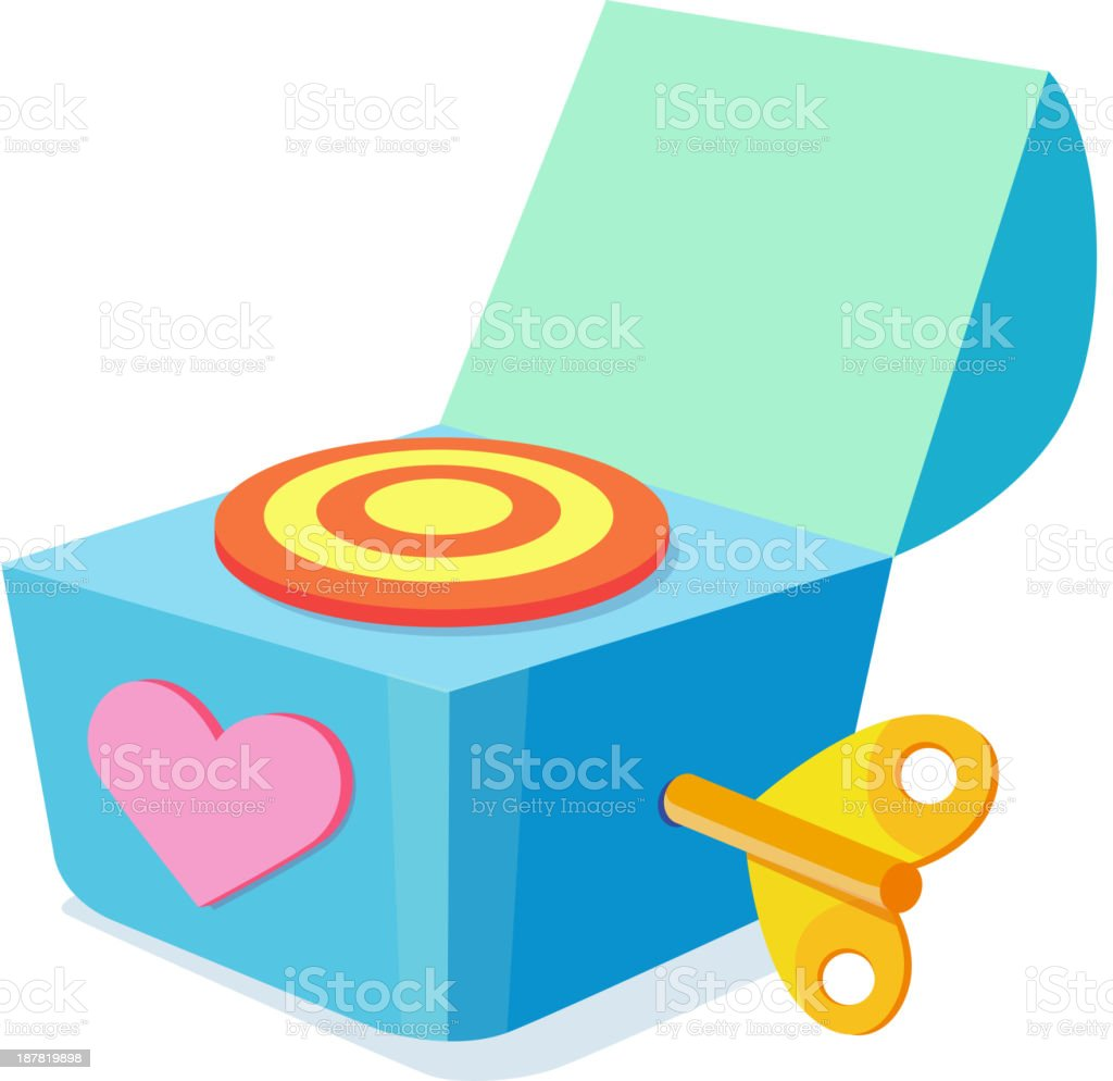icon music box vector art illustration