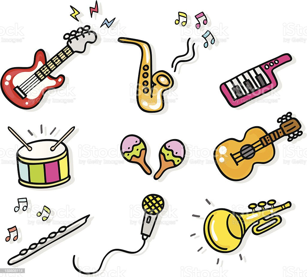 icon music instruments cartoon illustration elements stock microphone clip art black and white microphone clip art blank