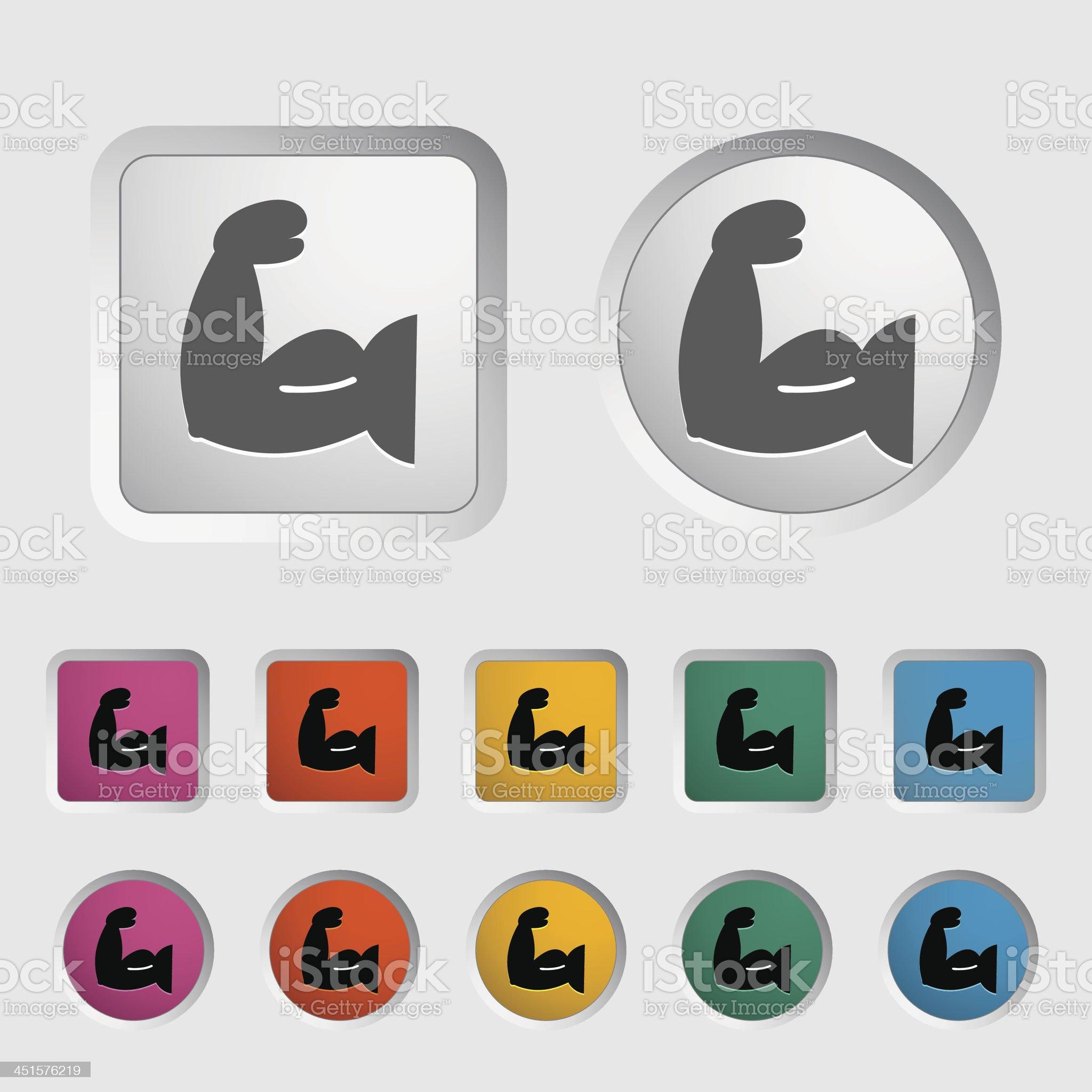 Icon of bodybuilding. royalty-free stock vector art