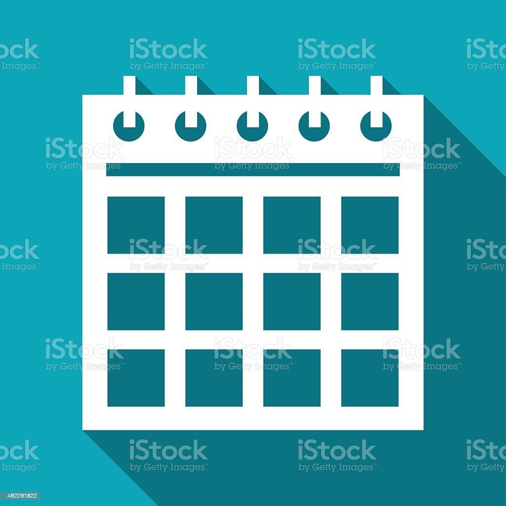 icon of calendar vector art illustration