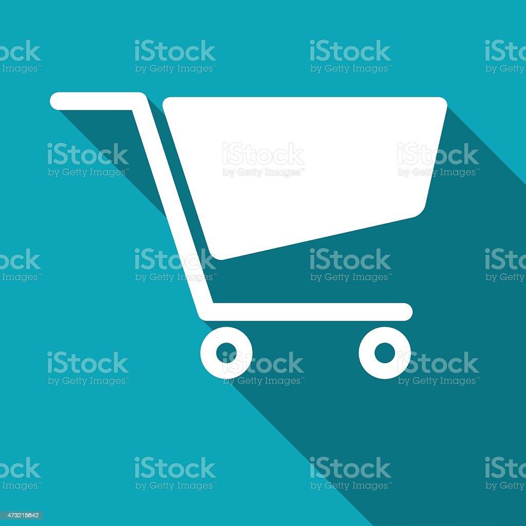 icon of cart vector art illustration