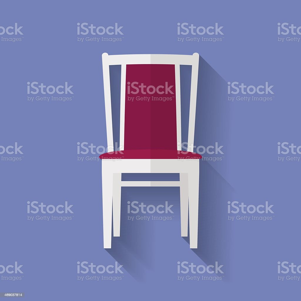 Icon of Chair. Flat style vector art illustration