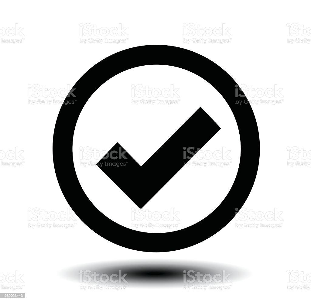 icon of check box vector art illustration