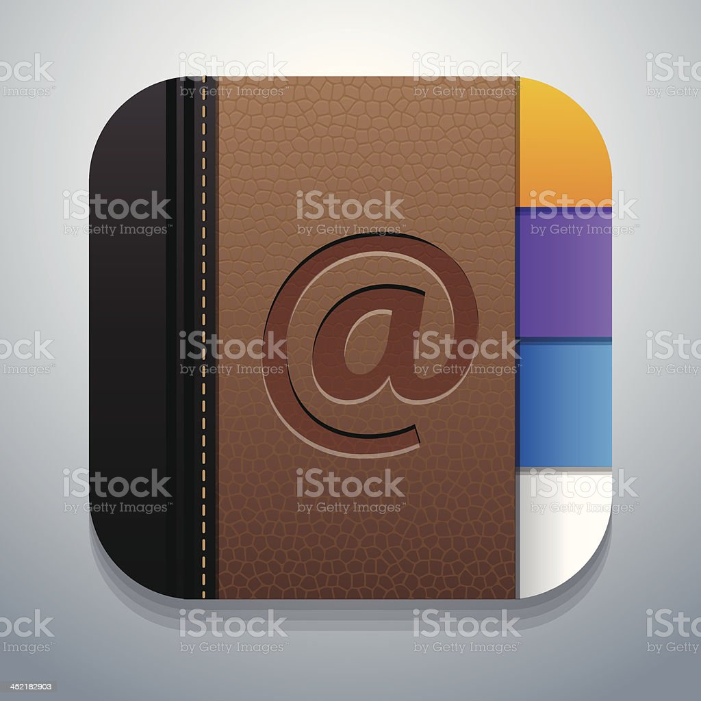Icon of contact or address book one would find on a phone royalty-free stock vector art