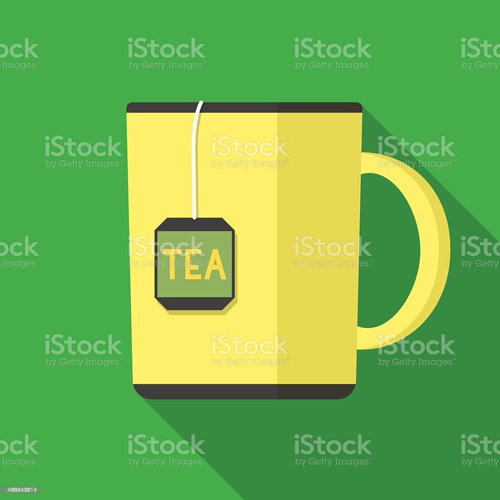 Icon of cup of tea vector art illustration