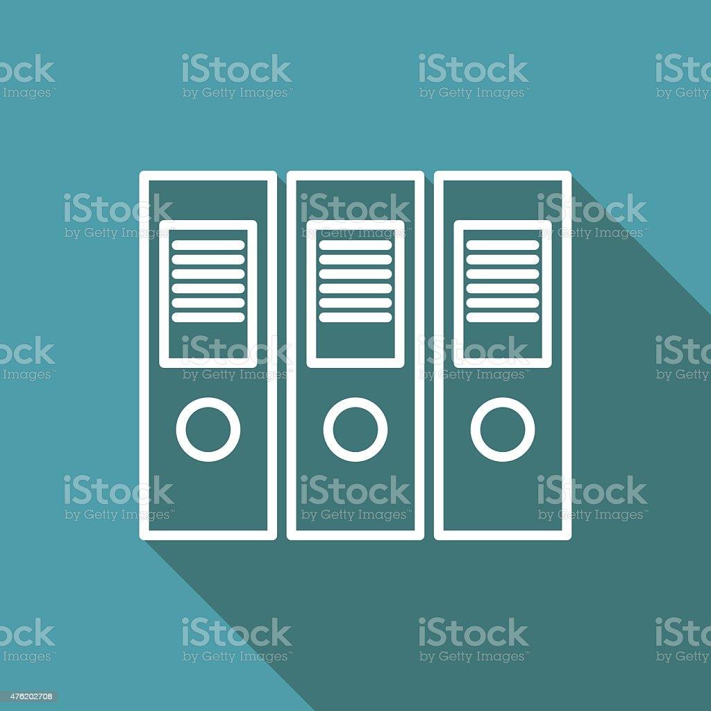 icon of document folder vector art illustration