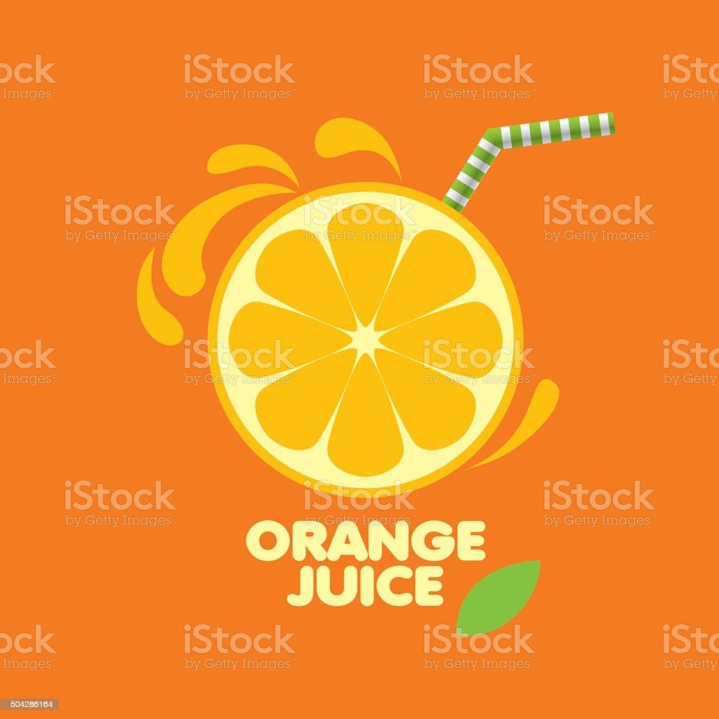 icon of fresh juice vector art illustration