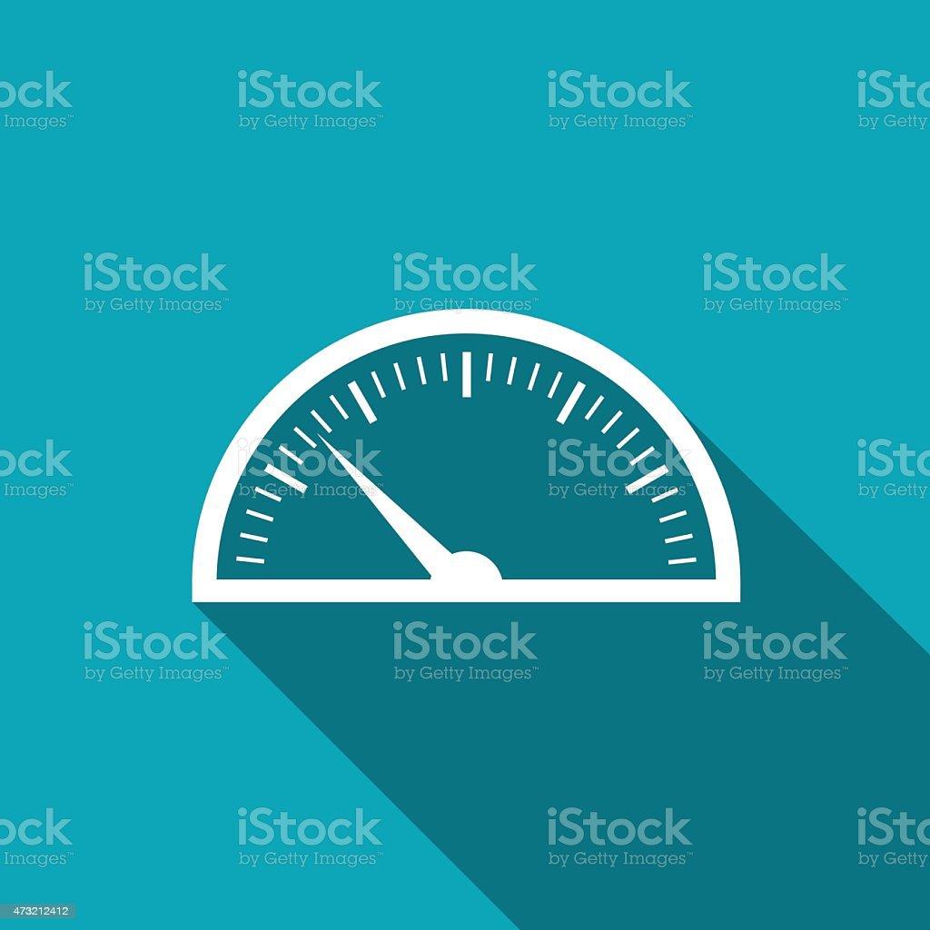 icon of gauge vector art illustration