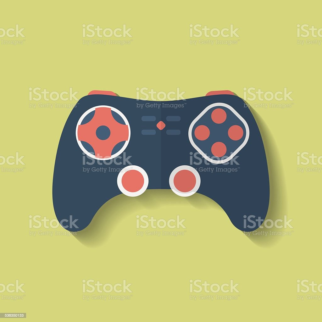 Icon of Joystick, controller, game pad. Flat style vector art illustration