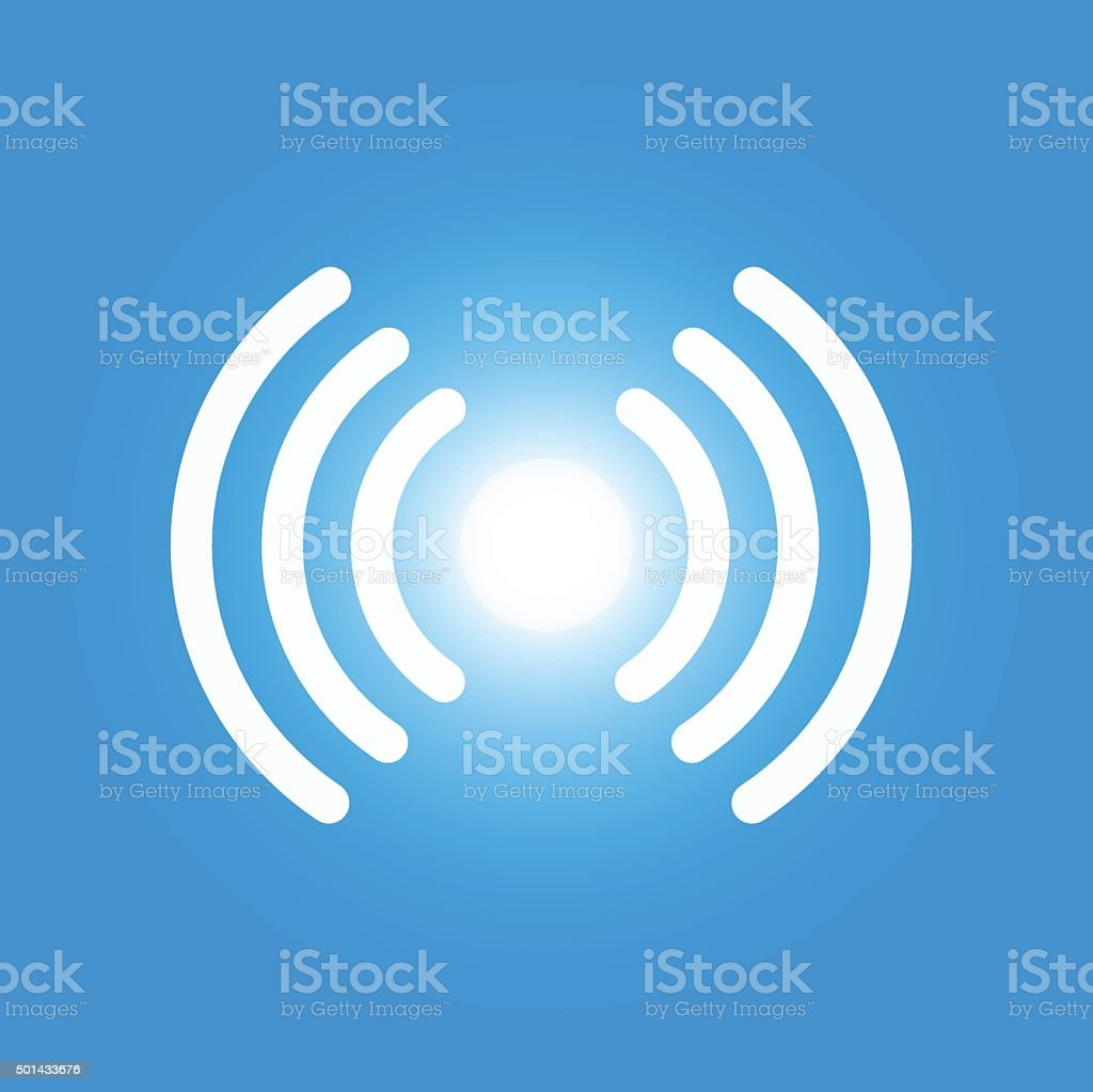 Icon of Li-Fi wireless high speed internet technology vector art illustration