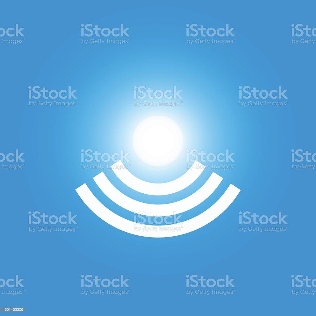 Icon of Li-Fi wireless internet technology vector art illustration