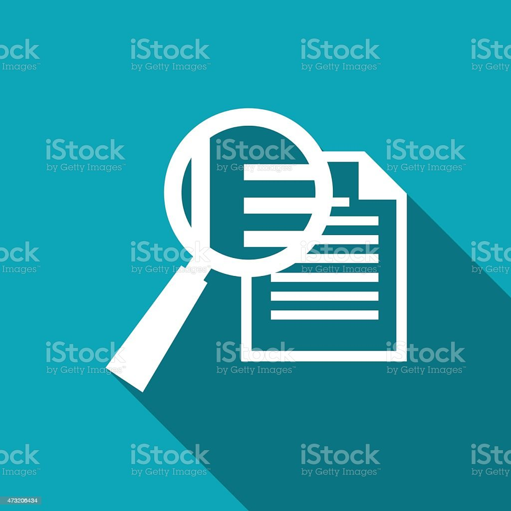 icon of lupe document vector art illustration
