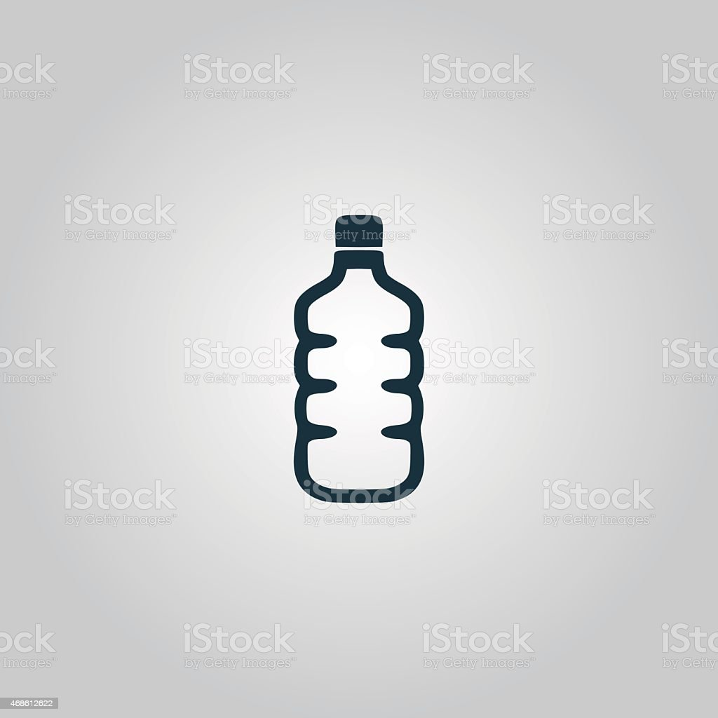 Icon of plastic water bottle vector art illustration