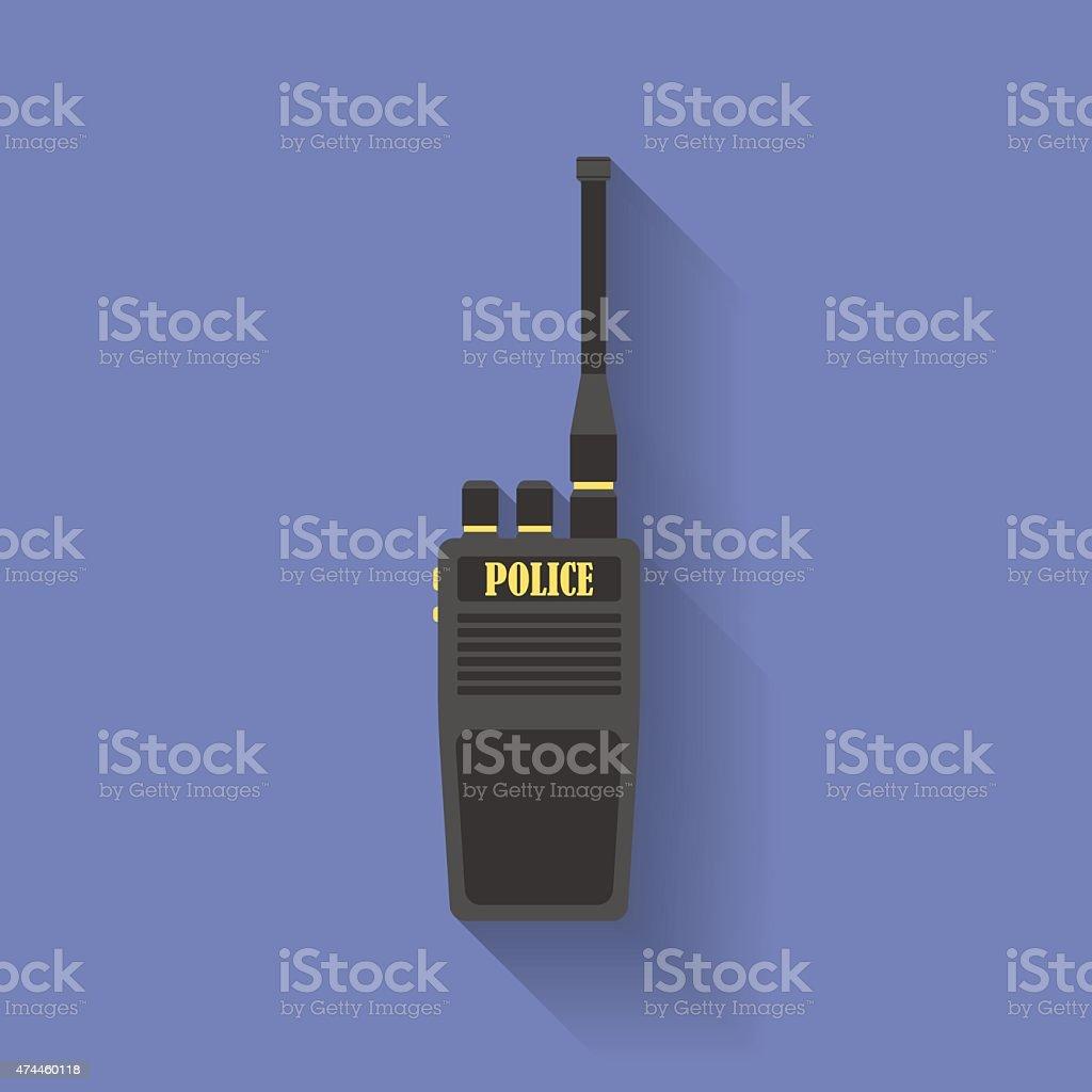 Icon of Police radio. Flat style vector art illustration