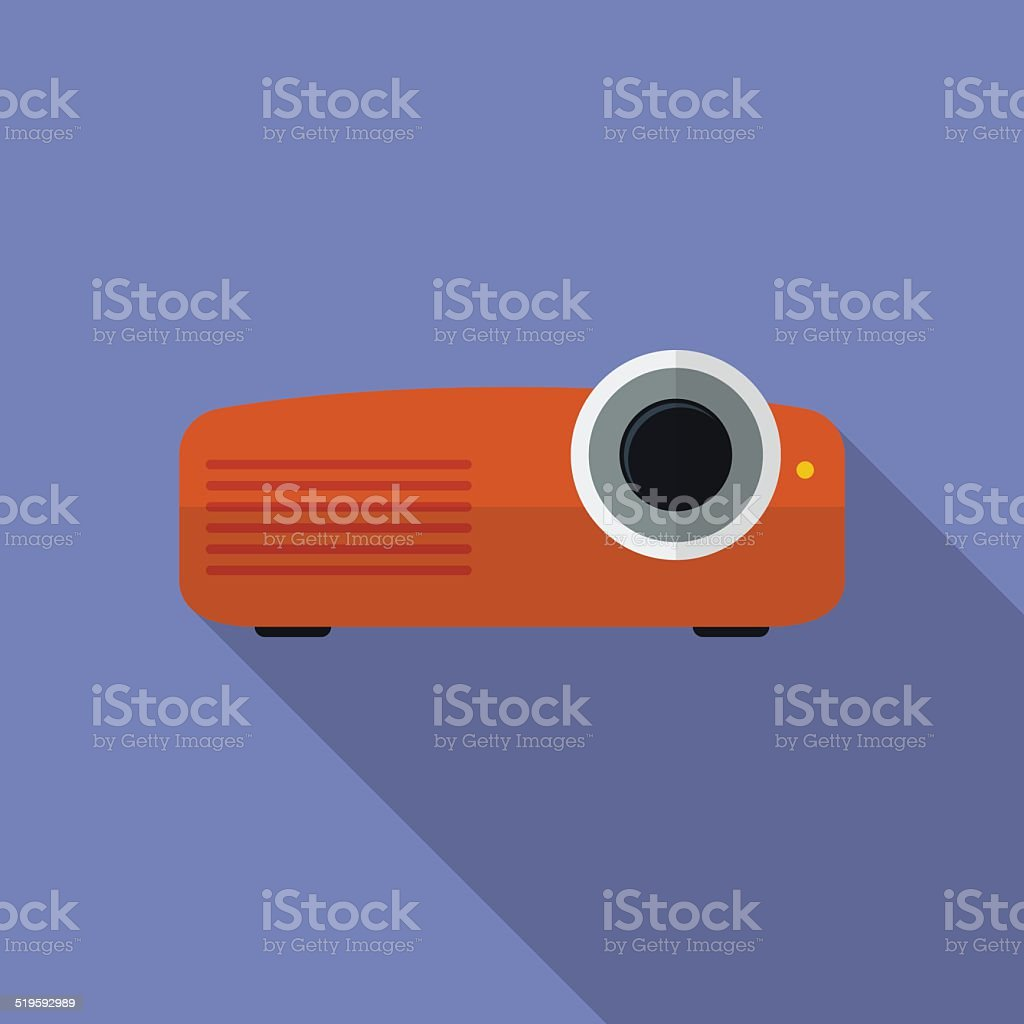 Icon of Projector, Flat style vector art illustration