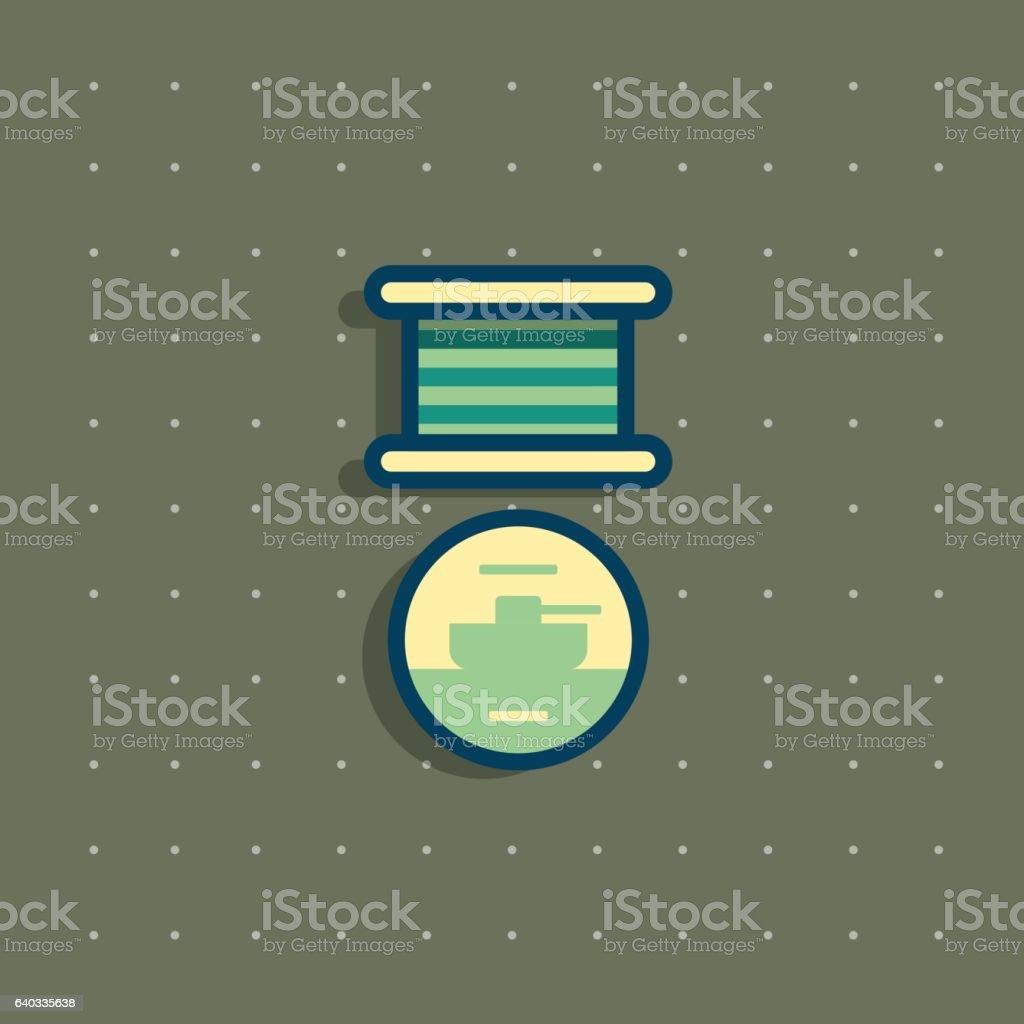 Icon of public commemorative award medal. vector art illustration