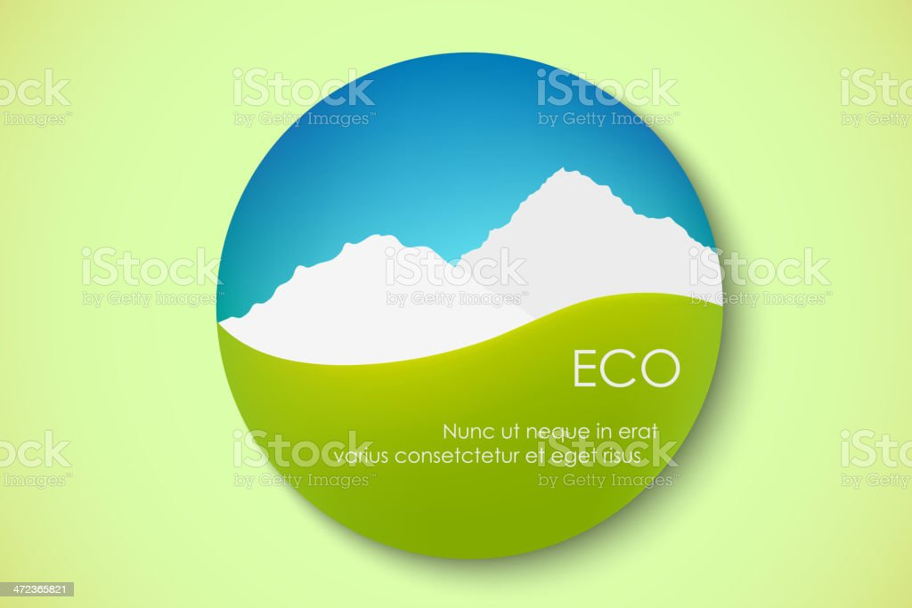 Icon of pure nature royalty-free stock vector art