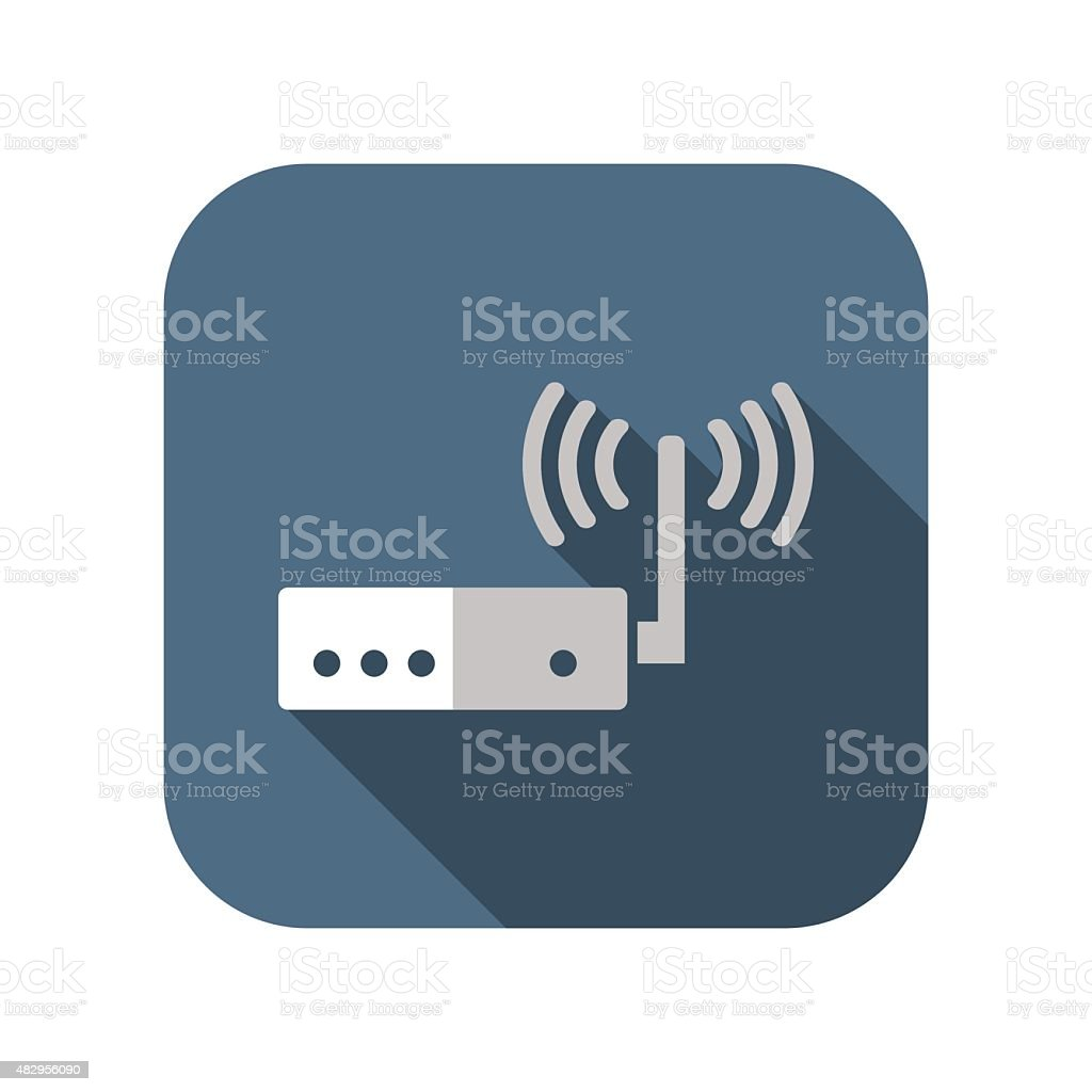 icon of router vector art illustration