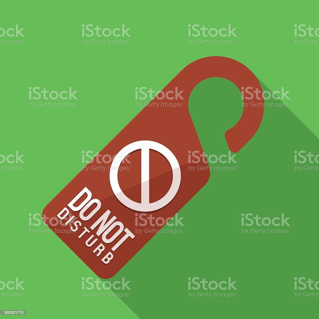 icon of sign do not disturb vector art illustration