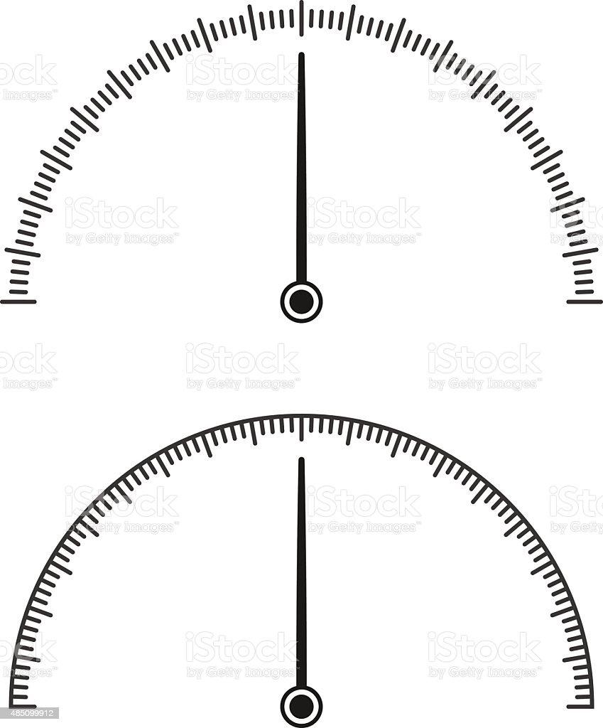 Icon of speedometer vector art illustration