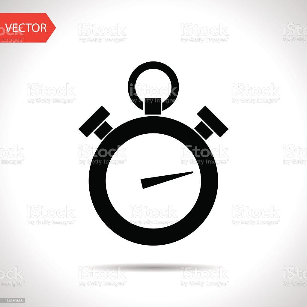 icon of stopwatch vector art illustration