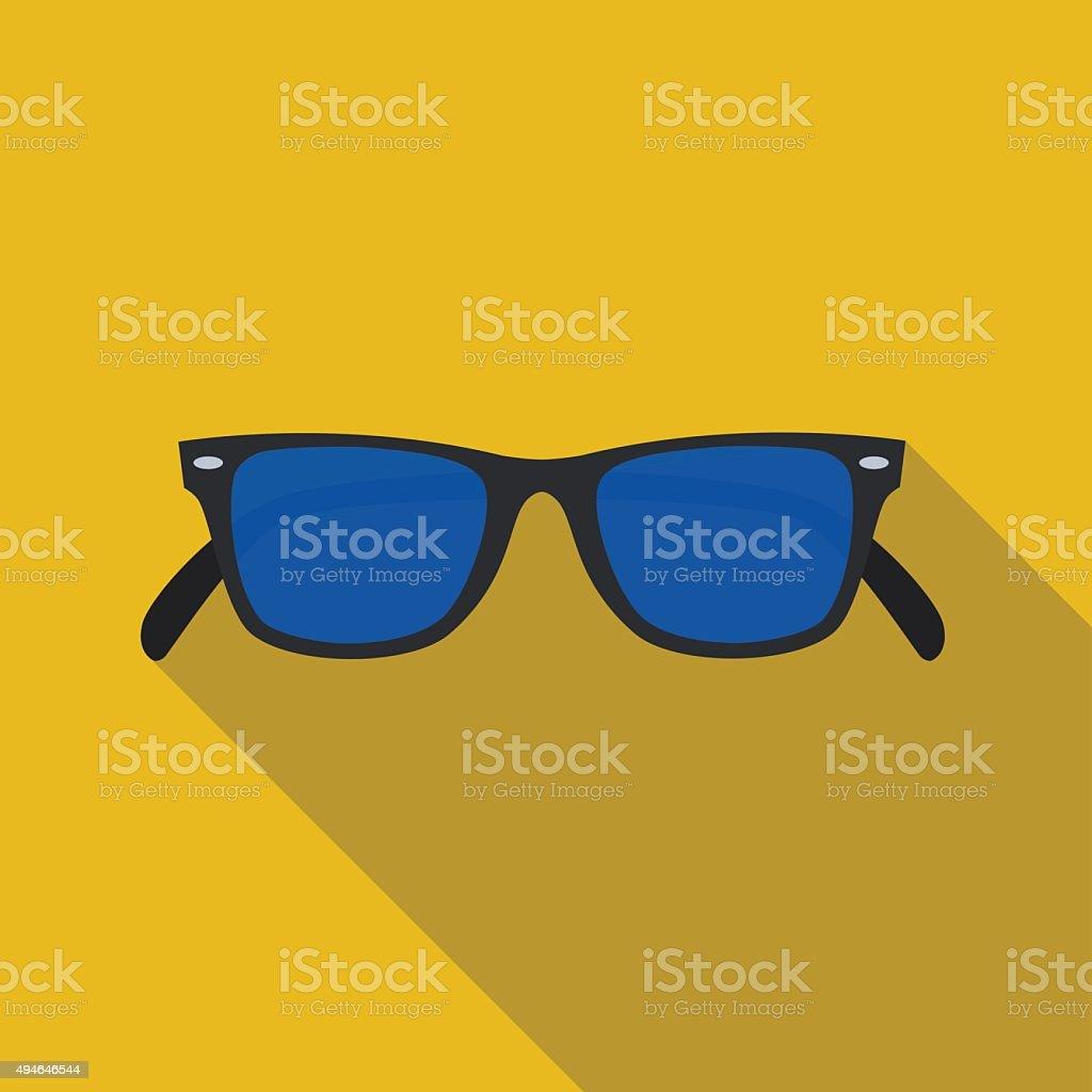 icon of sunglasses in flat design vector art illustration