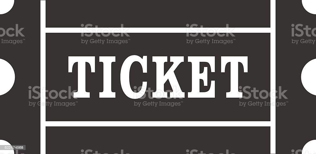 Icon of Ticket. Ticket sign, symbol vector art illustration