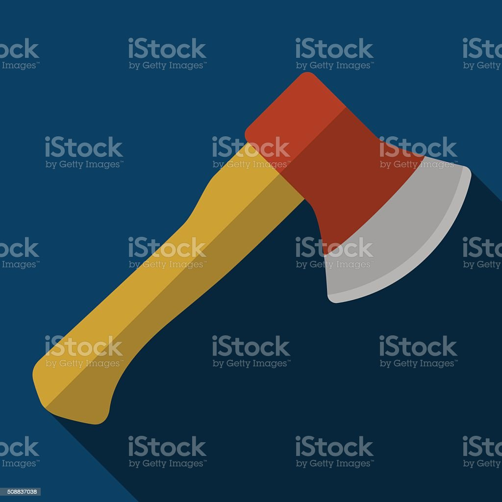 Icon of toy axe in flat design vector art illustration