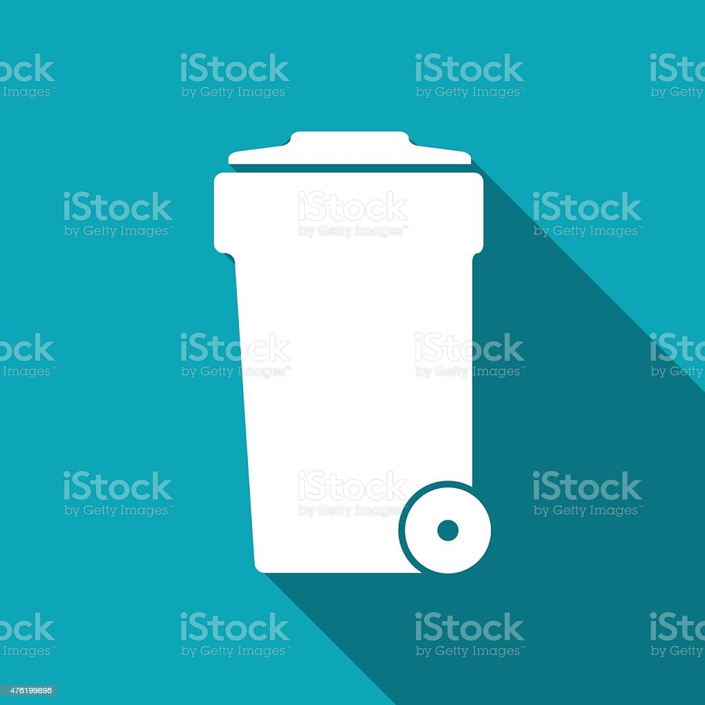 icon of trash can vector art illustration