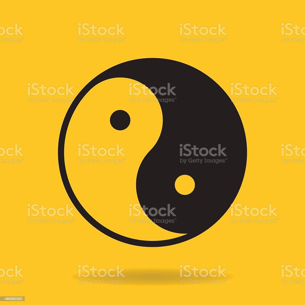 Icon of Yin Yang symbol vector art illustration