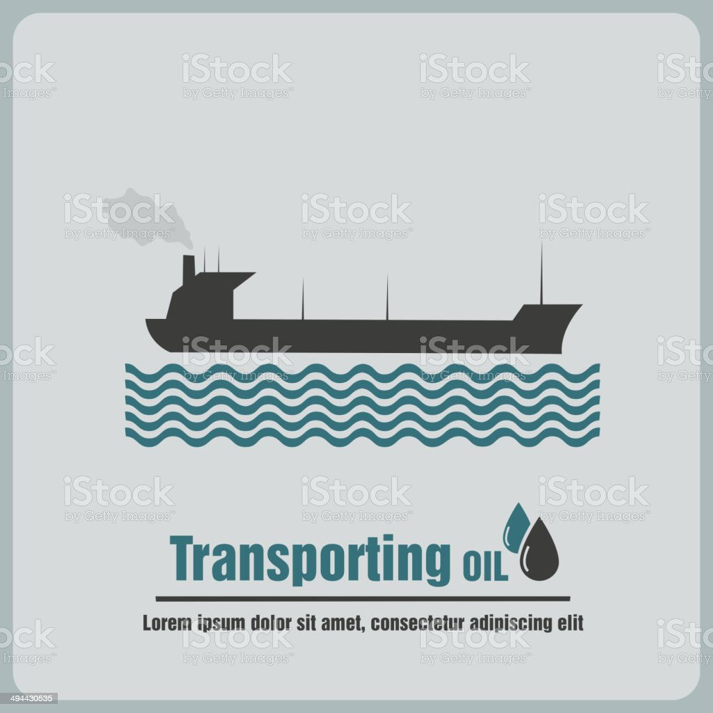 icon oil barge vector art illustration