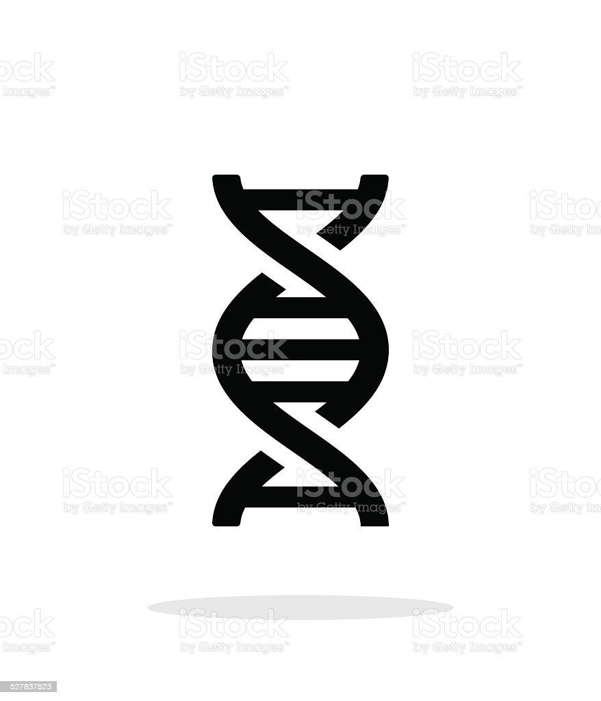 DNA icon on white background. vector art illustration