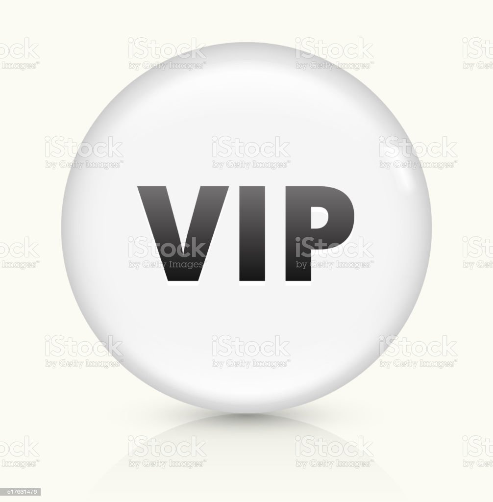 VIP icon on white round vector button vector art illustration