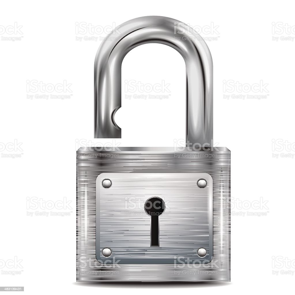 icon open padlock, metal structure royalty-free stock vector art