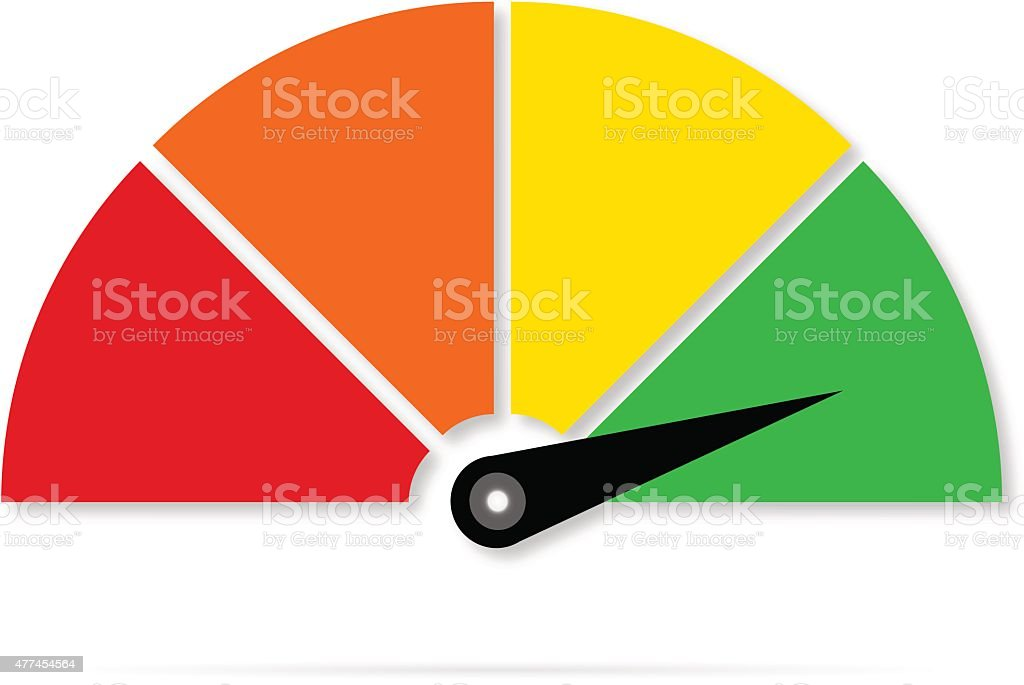 Icon or sign with arrow,Colorful gauge vector illustration vector art illustration